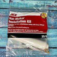Ace Ice Maker Installation Kit 45924 WITH FILTER UP TO  25 FT