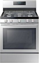 Samsung NX58H5600SS 30  Freestanding Gas Range  Convection Oven  Stainless Steel