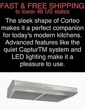 FREE SHIPPING New Broan 300 CFM 30  Corteo LED Stainless Undercabinet Range Hood
