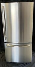 GE GDE25ESKSS 33  Bottom Mount Refrigerator  24 9 cu ft  Cap  in Stainless Steel