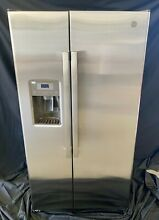 GE GSE25GSHCSS 36 Inch Side by Side Refrigerator  25 4 cu  Cap  Stainless Steel