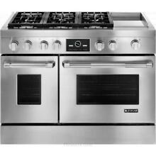 Jenn air JDRP548WP Pro style 48  Dual fuel Range Griddle Multimode Convection