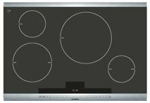 Bosch 800 Series 30  4 Burner Induction Cooktop NIT8065UC Stainless SteelTouch