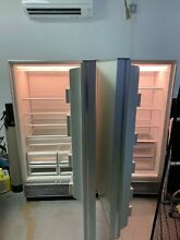 Sub zero refrigerator and freezer  501f and 501r  glossy white  great condition