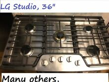 36  LG Stainless Gas Cooktop in LA