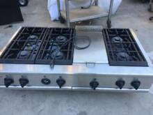 Ge 48  Stainless Rangetop  6  griddle  Propane or N gas  in LA
