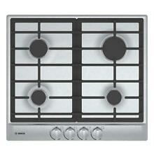Bosch 500 Series NGM5456UC 24  Gas Cooktop Push to Turn Knobs Stainless Steel