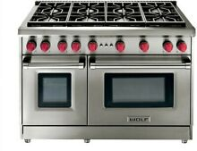 Wolf 48  Pro Style Stainless Steel 8 Burner Natural Gas Range   GR488