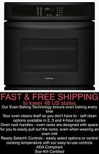 FREE SHIPPING  New Frigidaire 24  Single Electric Black Wall Oven w Vari Broil