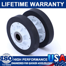 2Pcs Dryer Drum Roller Wheel For Maytag Whirlpool WP37001042 AP4046756 PS2039408