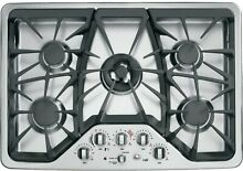 GE Caf  Series CGP350SETSS 30  Built In Gas Deep recessed Cooktop in Stainless