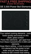 FREE SHIPPING New GE 2500 Watt Power Boil 30  Smooth Radiant Electric Cooktop