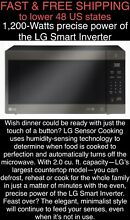 FREE SHIP New LG NeoChef 1200W Smart Inverter 2 0 CFT Black Stainless Microwave