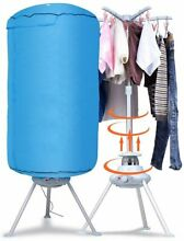 Panda Portable Ventless Cloths Dryer Folding Drying Machine with Heater Blue