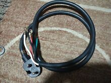 GE  4 Prong Electric Dryer Power Cord   5 Ft