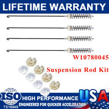 4 W10780045 W10821956 Washer Suspension Rod Kit For Whirlpool Kenmore Maytag USA
