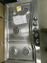 Untested base only rvgc33615bsslp Viking   36  LP Gas Cooktop   Stainless steel