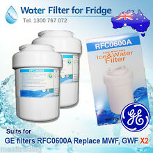 2x NEW GE MWF FRIDGE WATER FILTER  GWF HWF  REPLACEMENT   RFC0600A