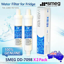 X2 FRIDGE FILTERS  FOR  SMEG FRIDGE REPLACEMENT  EXTERNAL WATER FILTER