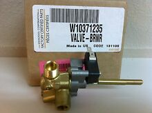 W10371235  KITCHENAID GAS RANGE DUAL BURNER VALVE   NEW PART