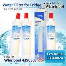 3x 4396508 WHIRLPOOL FRIDGE ICE WATER  FILTER REPLACEMENT for 66D25DCHXHS