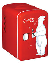 Koolatron Coca Cola 6 Can 0 14 cu  ft  Compact Refrigerator