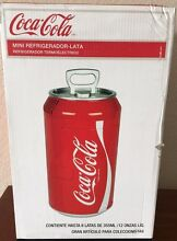 Coca Cola Mini Can Fridge Red Countertop Coke Soda Retro Fridge