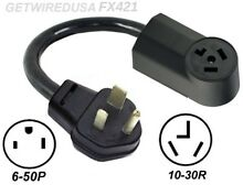 WELDER 3 PRONG 6 50P PLUG to 3 PIN 10 30R DRYER RECEPTACLE POWER CORD ADAPTER