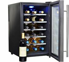 Wine Cooler 18 Bottle Chiller Fridge Digital Thermoelectric Under Counter New