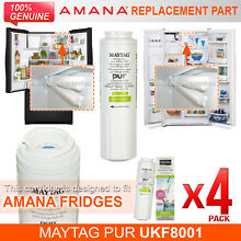4 x Amana Maytag PuriClean II UKF8001AXX UKF8001 Fridge Filter