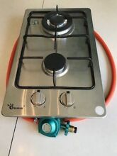 Drop in or above Counter Double Gas Stove with Regulator