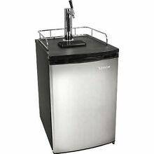 Full Size Kegerator Stainless Steel Keg Refrigerator   Draft Beer Compact Cooler