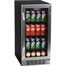 80 Can Undercounter Beverage Cooler Refrigerator   Compact Built In Mini Fridge