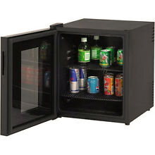 Glass Door Mini Cooler Beverage Refrigerator Digital Display Led Light Interior