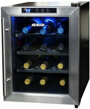 12 Bottle Countertop Wine Cooler Refrigerator  Quiet Thermoelectric  LED Display