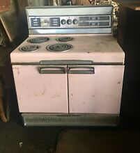 Vintage Classic 50 s Pink Frigidaire Electric Stove For Restoration Ship  zip