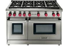 WOLF 48  Pro Style 8 Dual Stacked Sealed Burners Gas Range GR488 Images