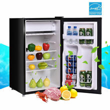 Stainless Steel Refrigerator Small Freezer Cooler Fridge Compact 3 2 cu ft