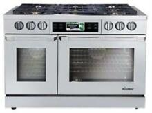 DACOR Discovery iQ 48  6 Burner Slide in Dual Fuel Range Stainless DYRP48DSNG