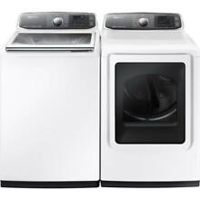 NIB Samsung White 27  Washer And Dryer Smart Care Set WA52J8700AW   DV52J8700EW