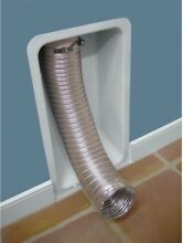 Dryer Vent Box Aluminum Metal Hooded Protector Recessed Mid Duct Reduce Lint