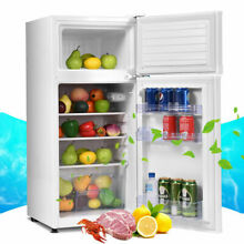 3 4 cu  ft  2 Door Compact Mini Refrigerator Freezer Cooler White