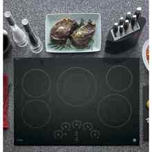 GE Profile Black Ceramic Metal 30 inch Smoothtop Electric Cooktop