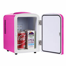 IceQ 4 Litre Portable Small Mini Fridge For Bedroom  Mini Cooler  Warmer In Pink