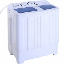 17 6lbs Portable Mini Compact Twin Tub Washing Machine Washer Spin Cycle