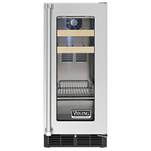 New Built In Viking Beverage and Wine Refrigerator Stainless Steel VBCI5150GRSS