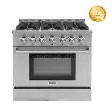 TOP Stainless Steel 36  6 Burner Gas Range Free Standing 2 Years Warranty H1V4