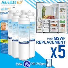5 x GE MSWF Premium Compatible Fridge Water Filter Fits RCA25RGBFSV