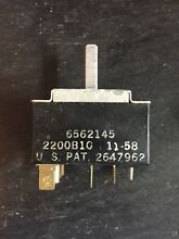 Vintage Frigidaire Stove Control Panel Surface Switch 6562145  2647962