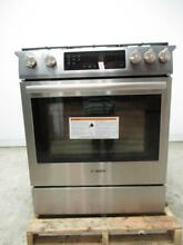 BOSCH 800 Series 30  18000 BTU Burner 4 8 cu  ft SS Slide In Gas Range HGI8054UC